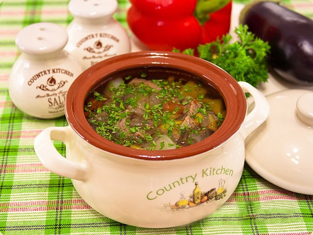 В горшочке в духовке рецепт с фото суп