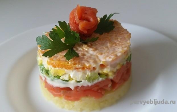 Салат с семги слабосоленой рецепты с
