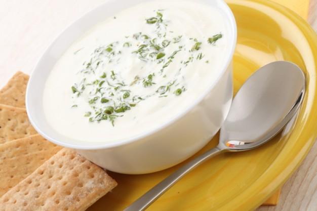 Суп с брынзой на бульоне, очень вкусный