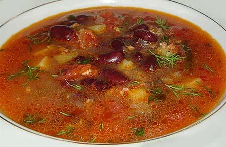 Как приготовить суп из красной фасоли