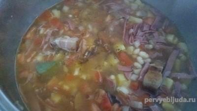 суп из сала
