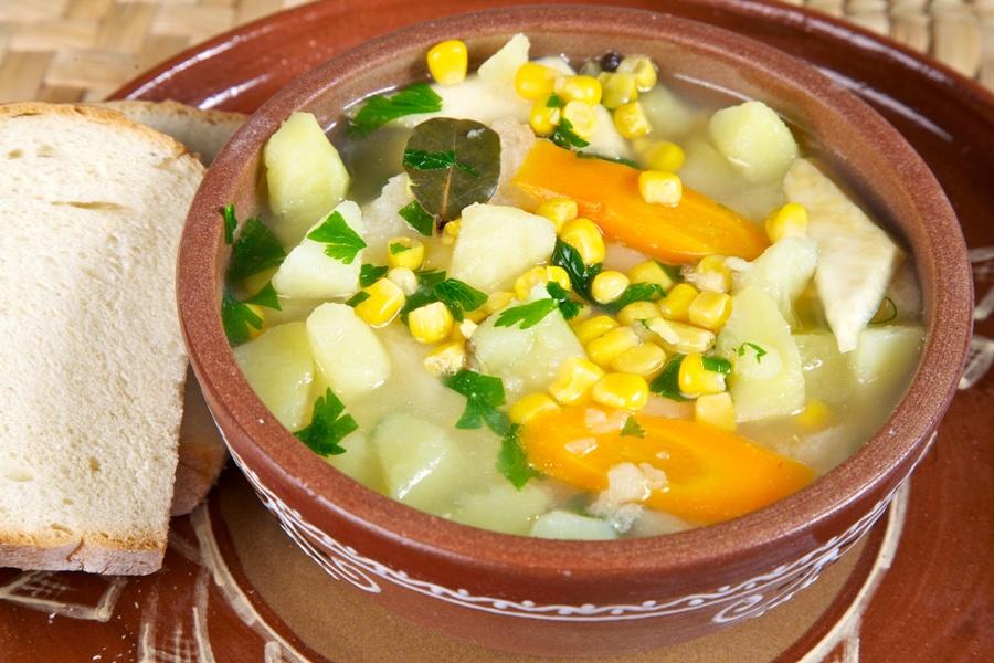 Суп с кукурузой— нежный, яркий и очень вкусный!