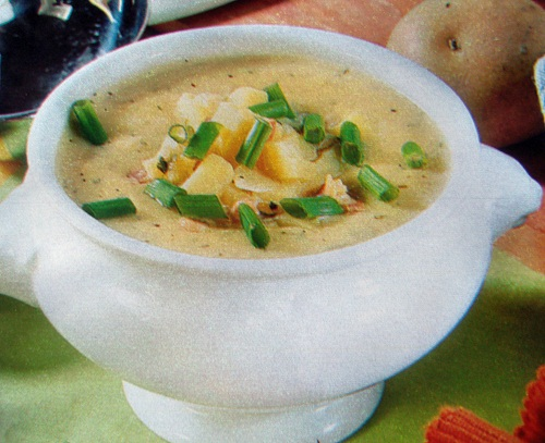 Суп с луком порей