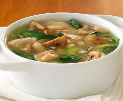 Грибной суп с курицей и плавленным сырком