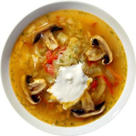 Рецепт щи с грибами