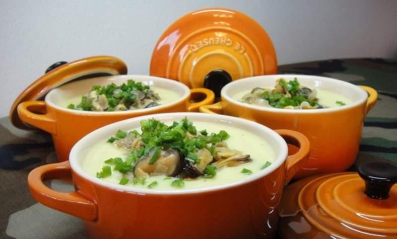 Суп молочный с грибами