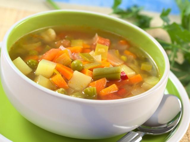 Рецепт— суп с овощами