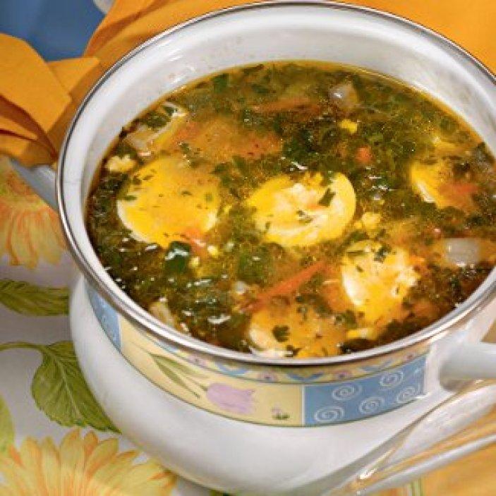 Как приготовить зеленый борщ с щавелем или шпинатом