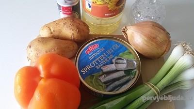 продукты для супа со шпротами