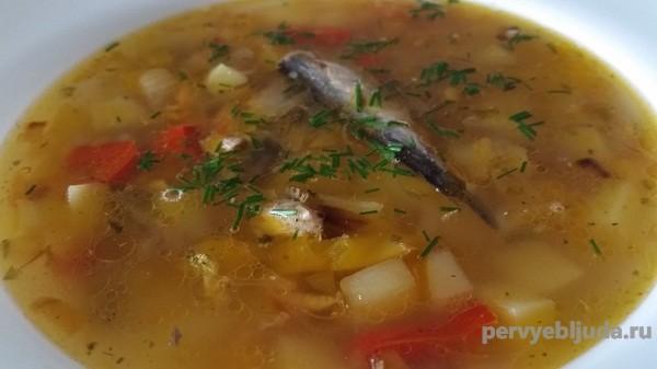 суп из шпрот
