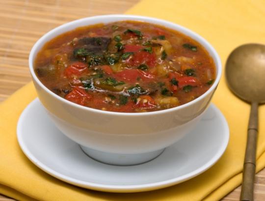 Суп с баклажанами— полезный и вкусный