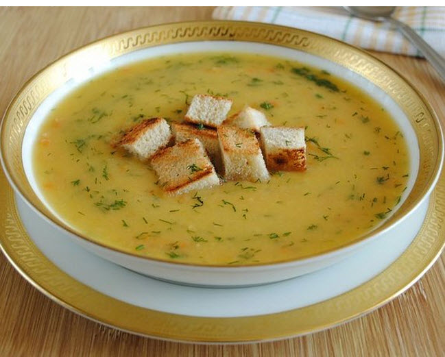рецепт сырного супа пюре со сливками