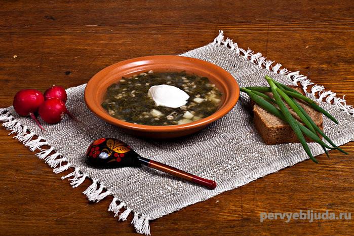 рыбный суп с щавелем