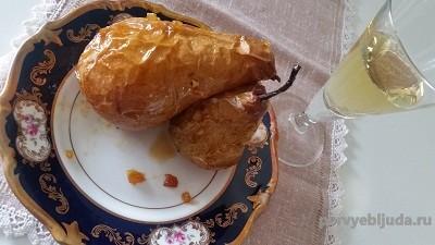 десерт из груш с корицей