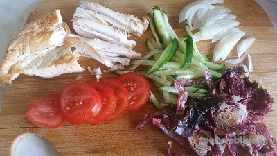 овощи нарезанные для донера