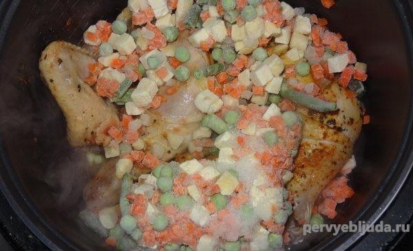 овощи и курица в мультиварке