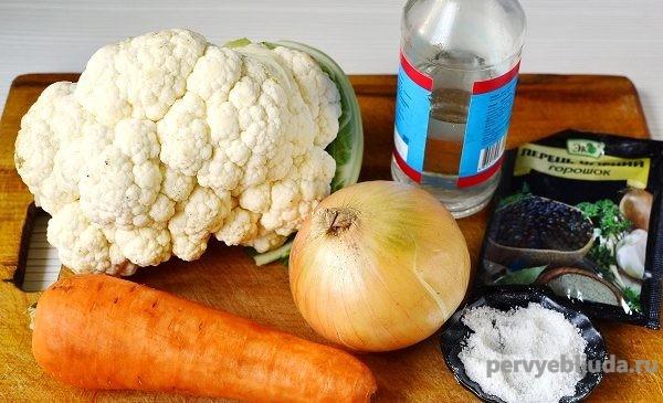 продукты для приготовления маринованной капусты