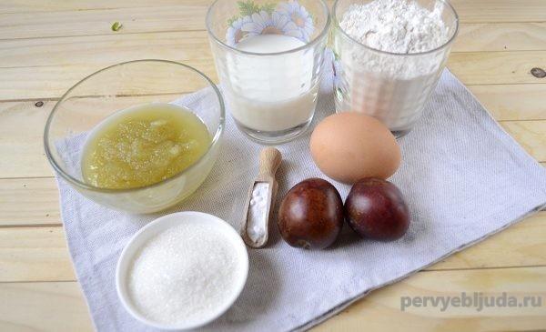 продукты для пирога с вареньем