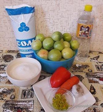 набор продуктов для заготовки зеленых помидор