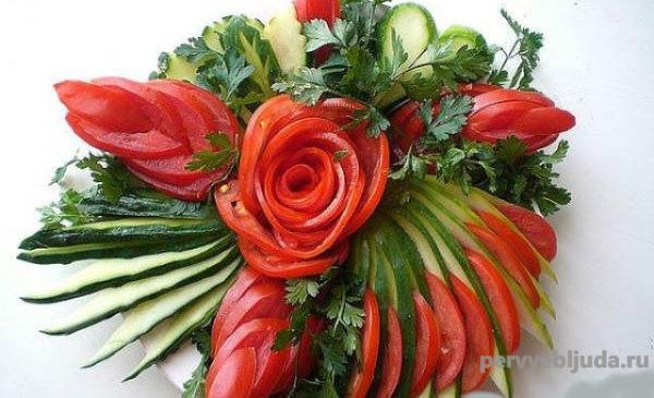 овощная нарезка -роза