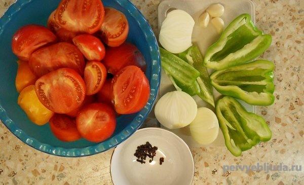 ингредиенты для приготовления помидор в собственном соку