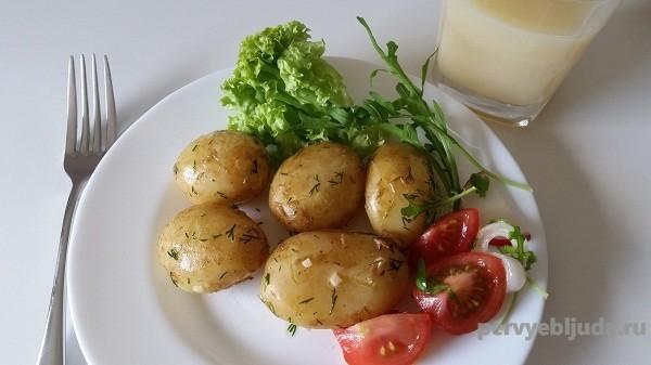 картофель молодой отварной