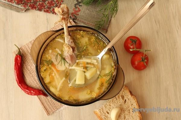 простой суп из утки