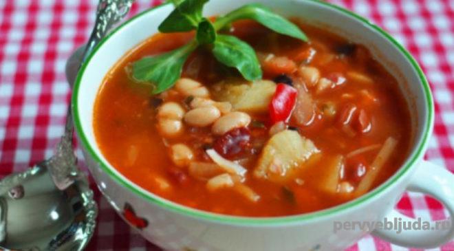 фасолевый суп в мультимарке