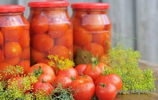 маринованные помидоры в полтора литровых банках