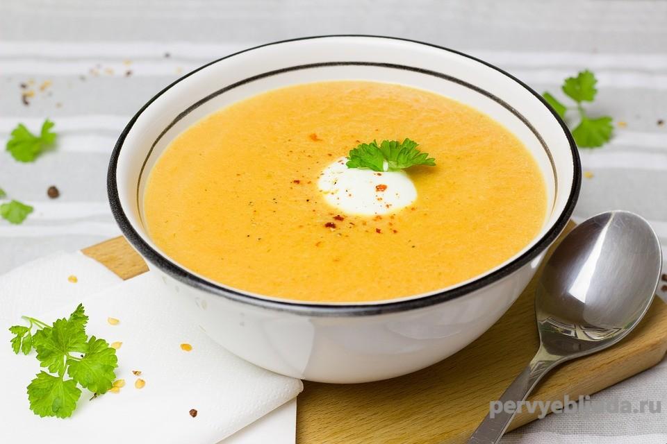 морковно-имбирный суп пюре