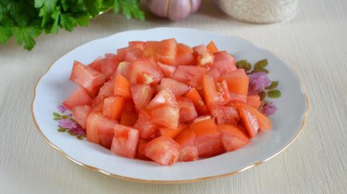 помидоры кусочками