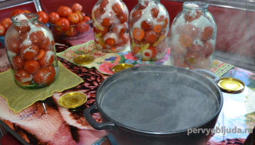 готовим помидоры на зиму