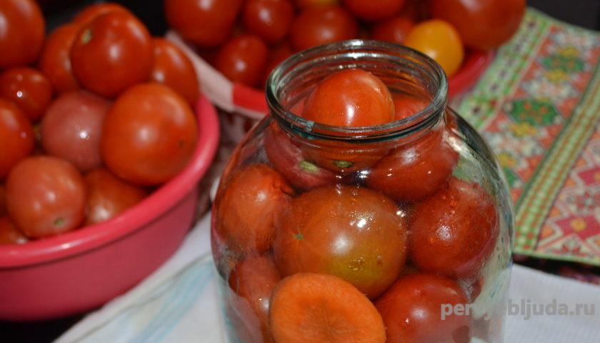 консервируем помидоры в трех литровые банки