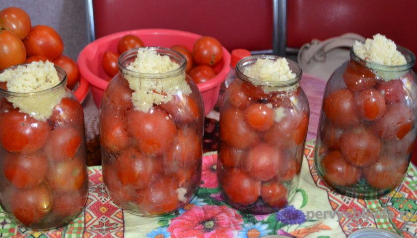делаем помидоры под снегом