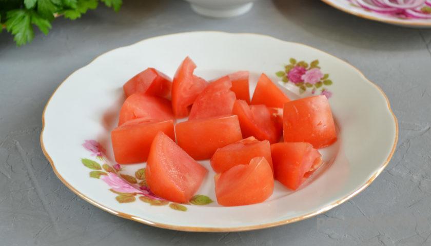кусочки помидор
