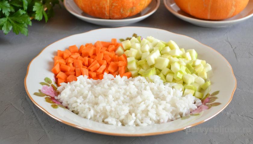 начинка из риса и овощей