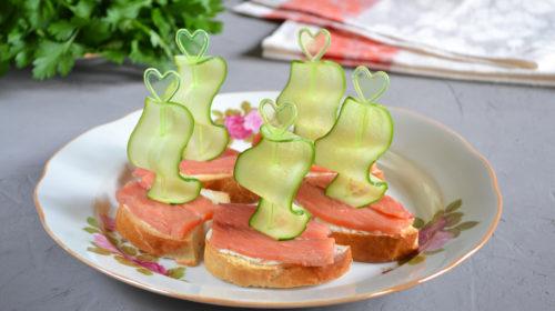 украшаем праздничные бутерброды