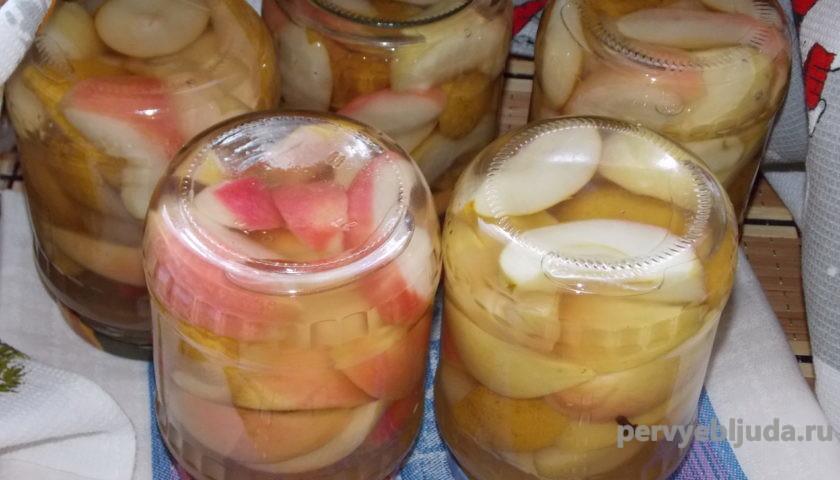яблоки и груши в сиропе на зиму в банках