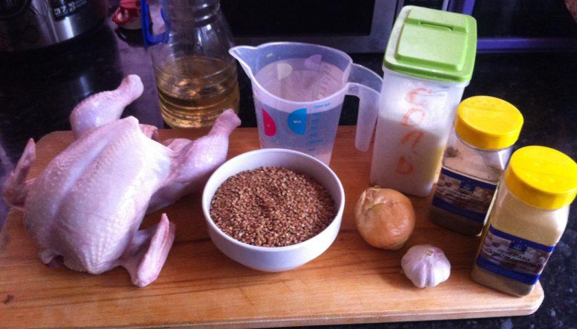 ингредиенты для приготовления курицы с гречкой