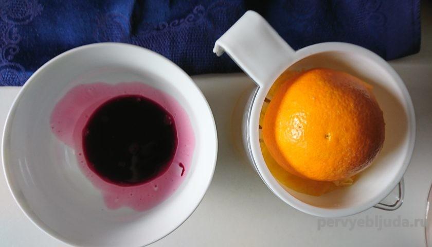 свекольный и апельсиновый сок