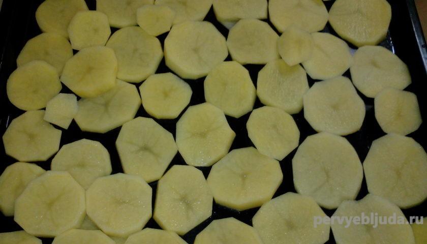 картофель кружочками
