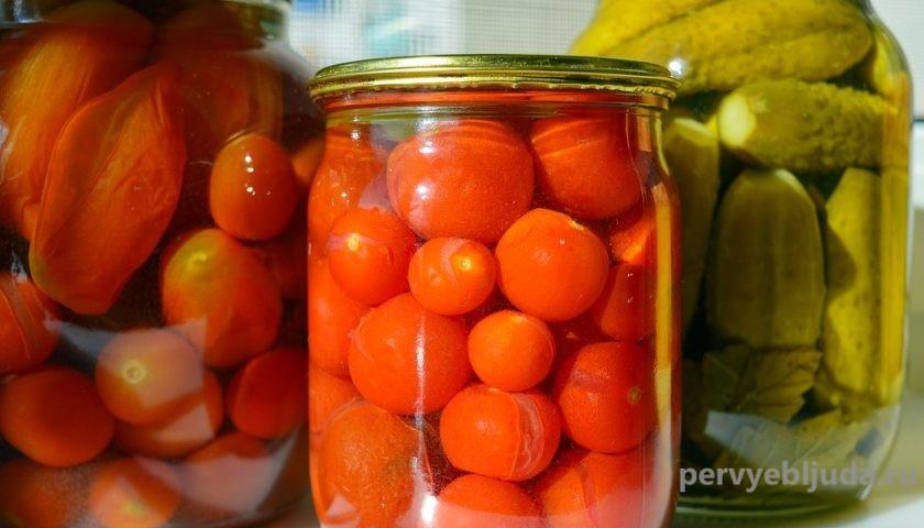 помидоры без чеснока на зиму