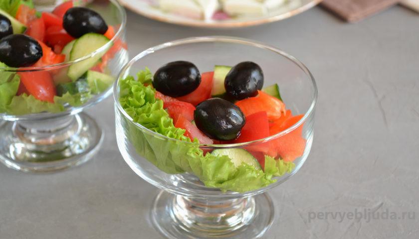 креманка с салатом