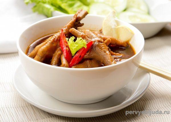 Суп из куриных лапок по-китайски