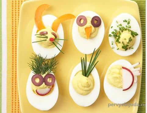 идеи украшения блюд из яиц