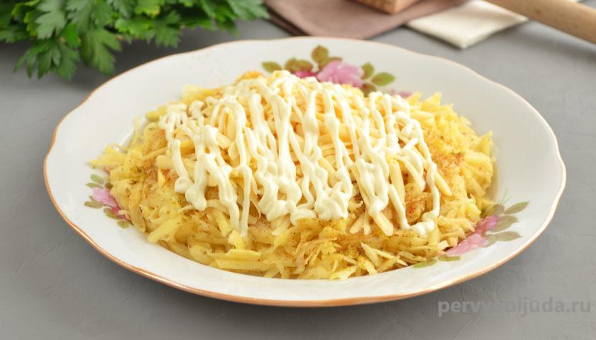 готовим курицу под картофельной шубкой