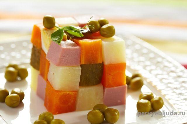 кубик рубик из оливье