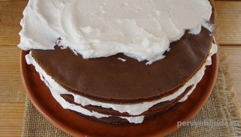 собираем шоколадно-кофейный торт
