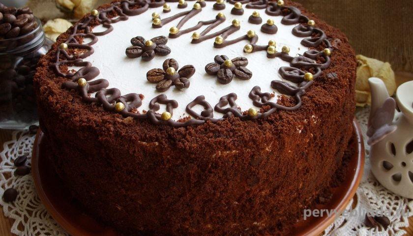 шоколадно-кофейный торт с рикоттой