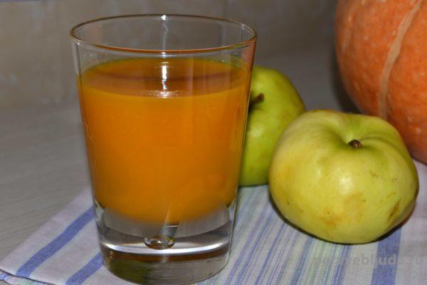 Тыквенно-яблочный сок на зиму в домашних условиях
